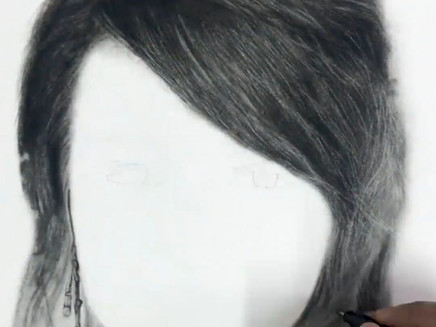 How to make realistic hair using Charcoal ?