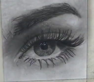 How to sketch realistic eyes using Charcoal ?