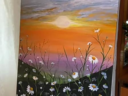 Sunrise Acrylic Painting