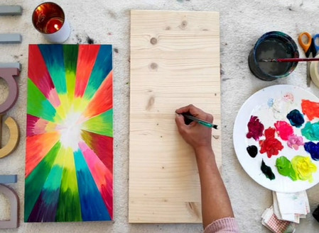 How to paint Abstract Acrylic Painting ?