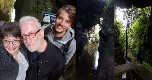 Managapohue Natural Bridge, NZ | February 2017 | Petra, Roland & Lennart