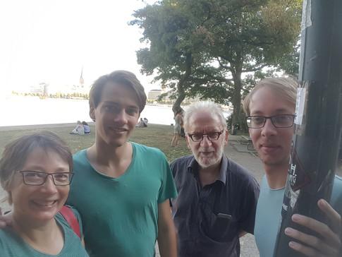 Alster, Hamburg, Germany | 31.07.2018 | Petra, Lennart, Roland & Lars