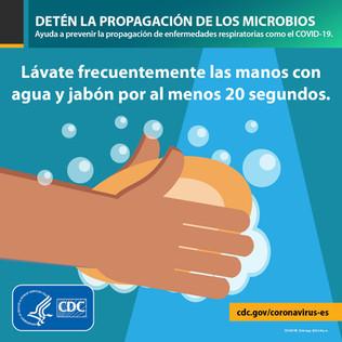 Lávate las manos con agua y jabón...