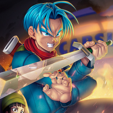 Mirai Trunks vs Goku Black (Dragon Ball Super)
