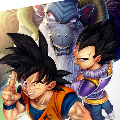 Goku e Vegeta (Dragon Ball Super_RenanRoque)