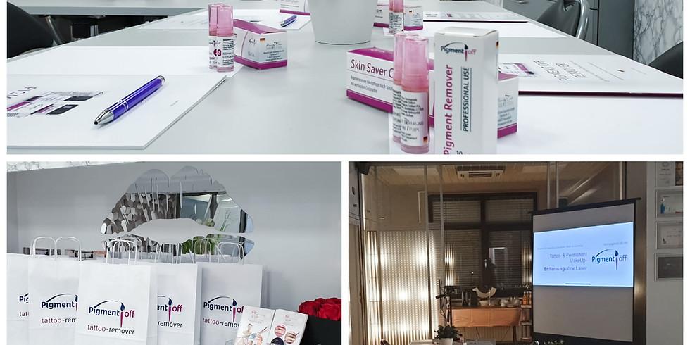 Pigment Off Remover Schulung In Ingolstadt .Microblading und Pmu ohne Laser entfernen