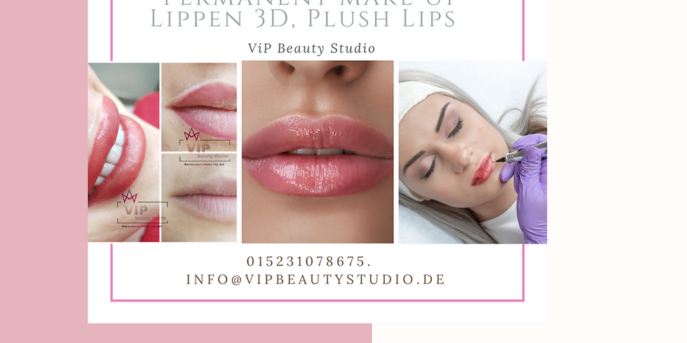 Lippen PMU Masterclass Perfektionstraining - Permanent Make Up -3 Methoden zum Auswahl.
