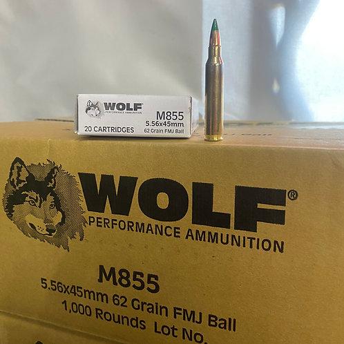 BRASS CASE WOLF 62 GR GREEN TIP 20RD/BOX