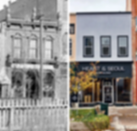 Before and After of Historic Building Facade