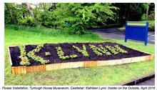 Flower installtion, exterior, Turlough House Mueseum