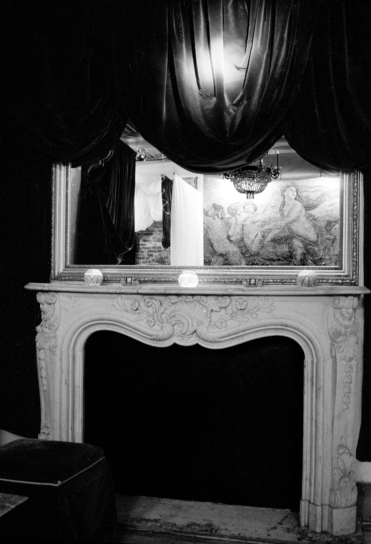 velvet+fireplace