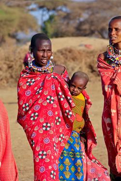 Maasai Woman and Baby