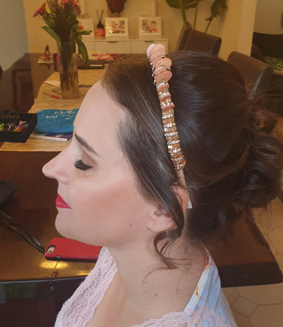 special occasion makeup and updo hairstyle