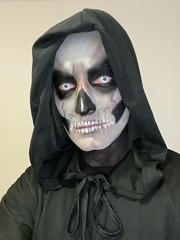 Grim Reaper makeup halloween