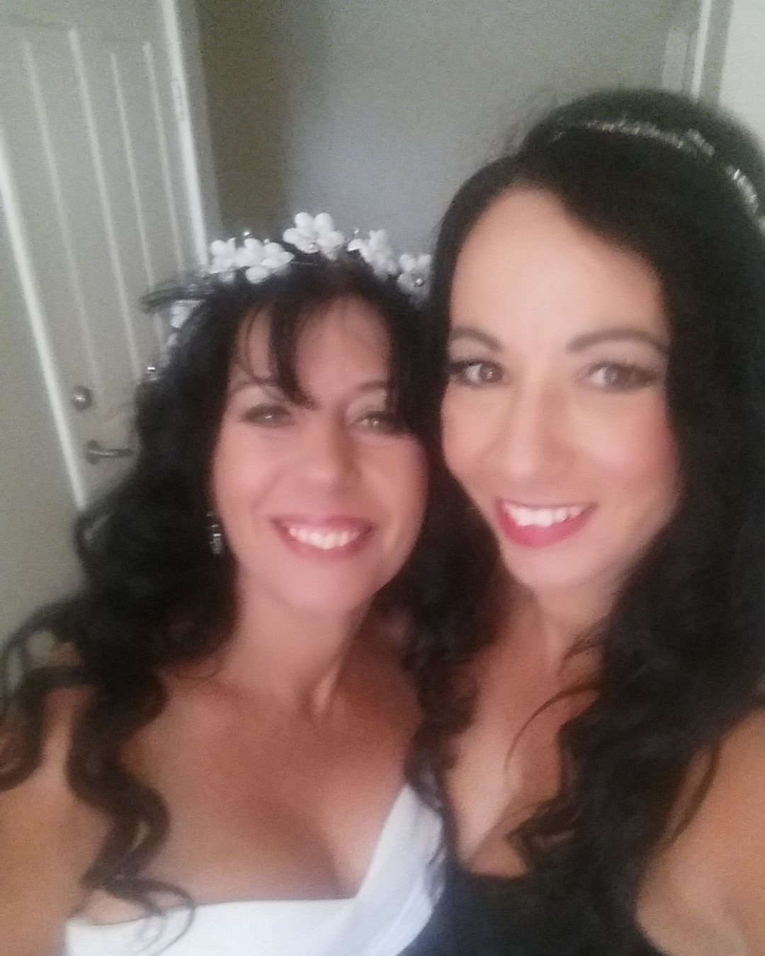 Bride and bridesmaid makeup