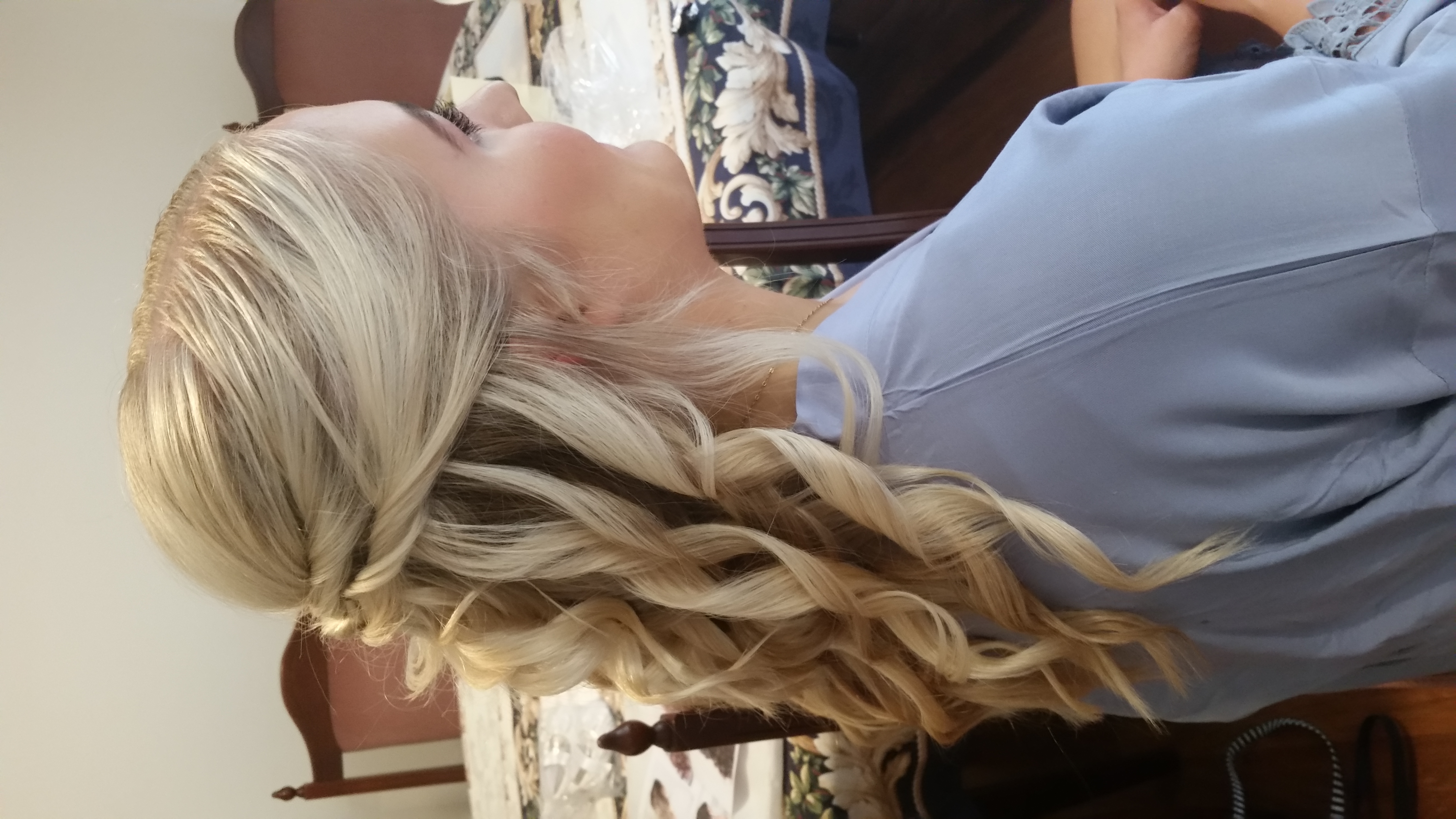 Bridesmaids half up half down curls