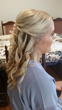 Bridesmaids half up half down curls