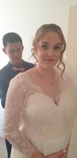 Bride - hair and makeup Grooms hair