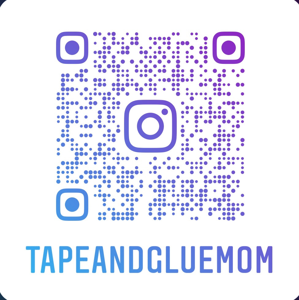 QR code for tape and glue mom