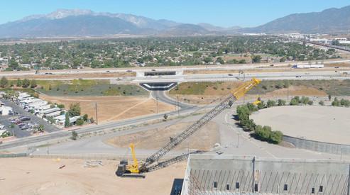 Construction Site View - San Bernardino, California