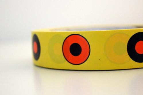 Yellow tape - black & orange targets