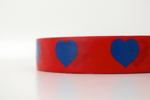 Red tape - blue hearts