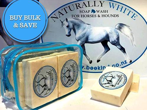Naturally White Soap Bulk pack of 4