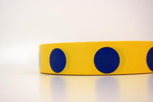 Yellow tape - blue circles