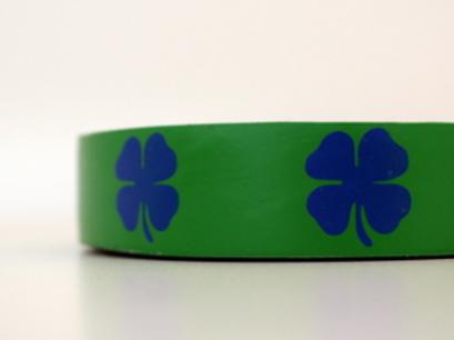 Green tape - blue clovers