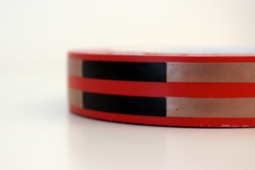 Red tape - black & gold stripes