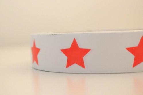 White tape - orange stars
