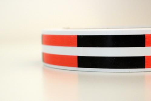 White tape - black & orange stripes
