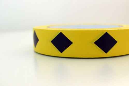 Yellow tape - dark purple diamonds