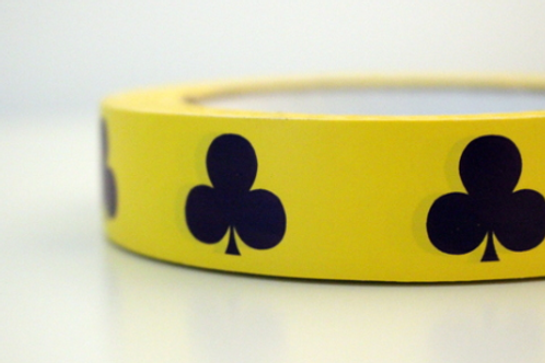Yellow tape - dark purple clubs