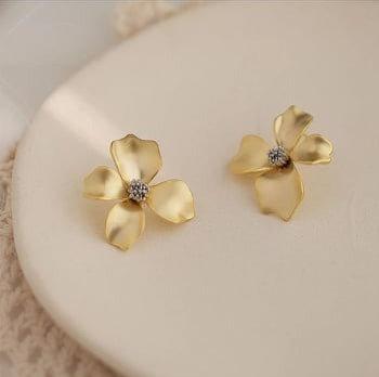 Ohrringe Gold Flower