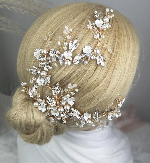 Brautschmmuck Haare Elsa
