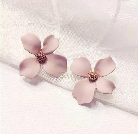Blumen Ohrringe altrosa und weiß