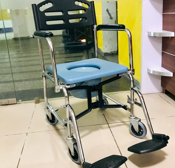 Commode Wheelchair with small wheels
