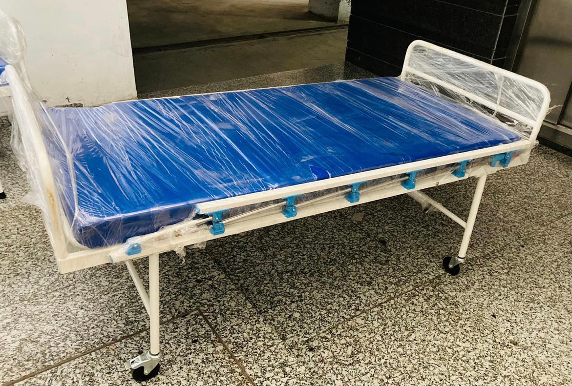 Hospital Bed with Wheels and Side railings
