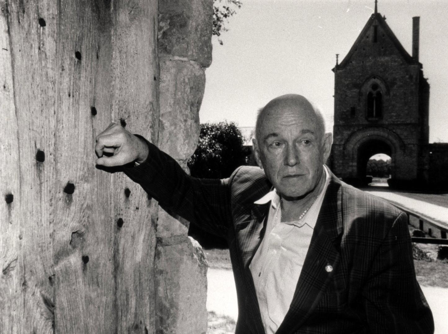Richter devant la grange de Meslay - 1991