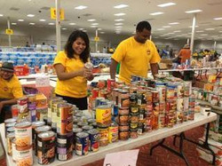 ACS workers food bank