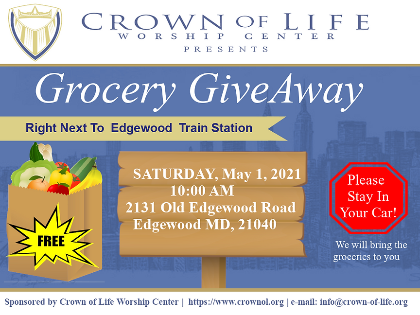 COL Food Giveaway Flyer -  May 1 2021.pn