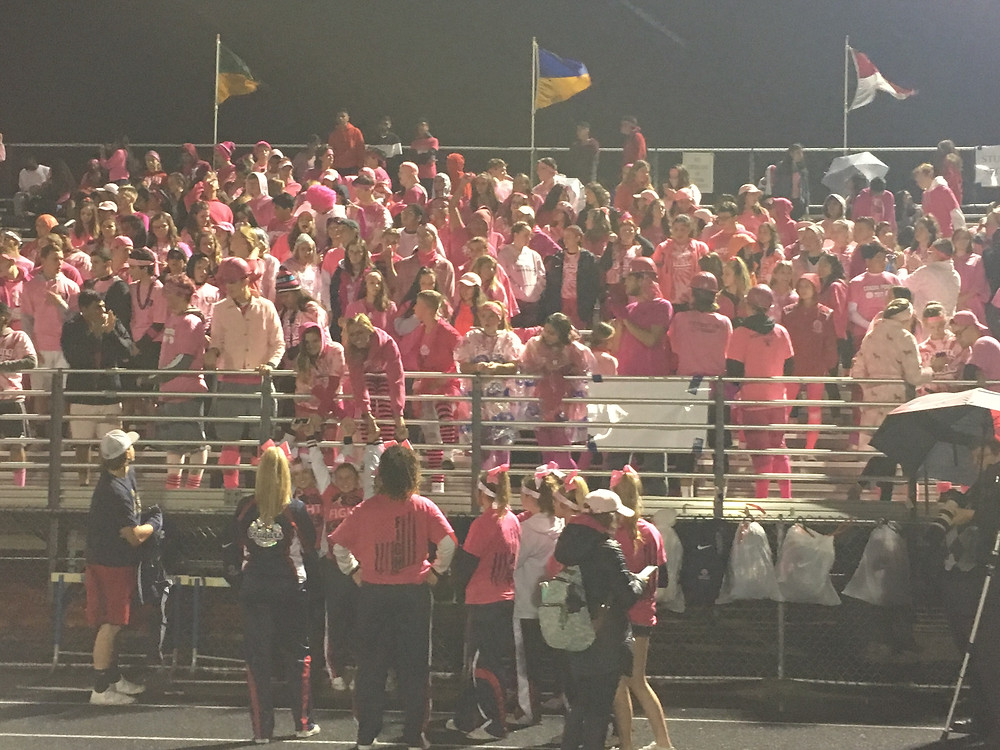 The Cougar Crazies braved the elements Friday night to cheer on Conant vs. Schaumburg.