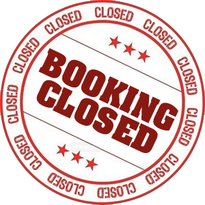 And booking is CLOSED for Thanksgiving week!