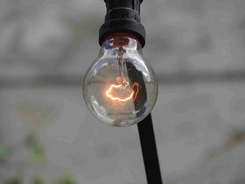 eine gute alte Glühbirne
