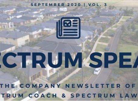 Spectrum Speaks Newsletter – Vol. 3 | October 2020