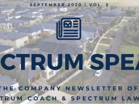 Spectrum Speaks Newsletter – Vol. 3 | October 2020