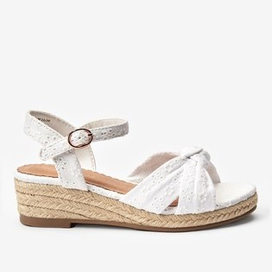 Next Broiderie Anglais Wedge Sandals