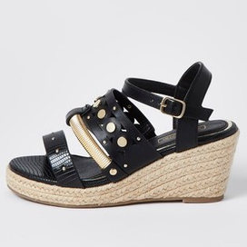 River Island Studded Rope Wedges