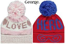 Girl & Boy Bobble Hats at George